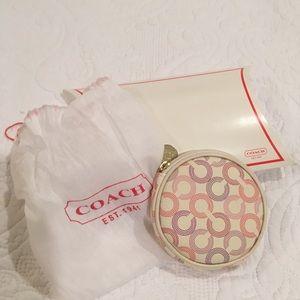 Coach plaid coin purse